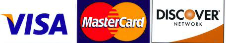 Visa Master Card and Discover
